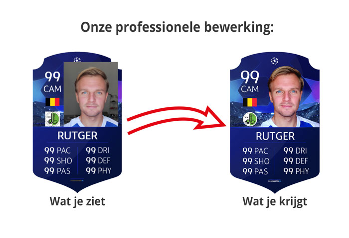 professionele fifa card bewerking